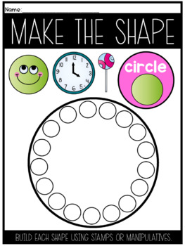 Shape Mats to Build the Shapes