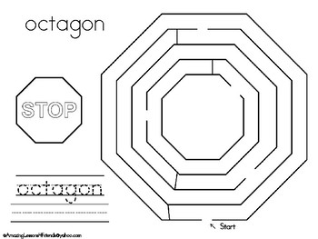 Shape Mazes Fun Sheets