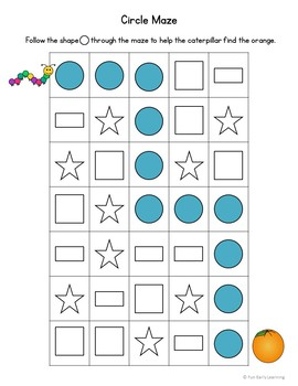 Shape Mazes - No Prep Interactive Worksheets