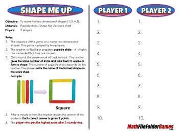 Shape Me Up - 1st Grade Math Game [CCSS 1.G.A.1]