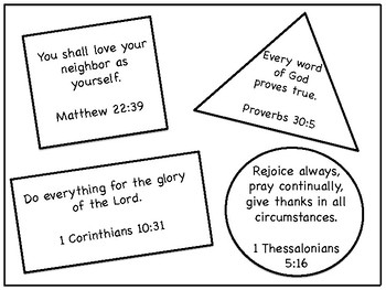 Shape Memory Bible Verse Coloring Page