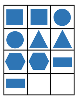 Shapes memory matching teaching resources teachers pay teachers shape memory match shape memory match fandeluxe Choice Image