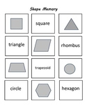 Shape Memory Math Game