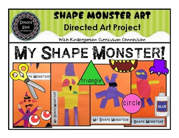 Shape Monster Art Activity with Curriculum Connection (pdf)