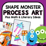 Shape Monster Art with Math and Literacy Activities