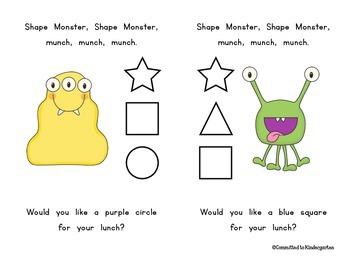 Shape Monster Booklet