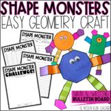 Shape Monster Geometry Activity