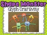 Shape Monster Glyph Craftivity {Common Core Aligned Spooky Math Fun}