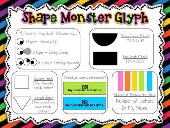 Shape Monster Glyph Craftivity {Common Core Aligned Spooky Math Fun}