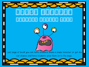 Shape Monster Tracing Book Freebie