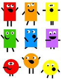 Shape Monsters Clip Art 36 PNG Images:  Enough For Your Whole Class!