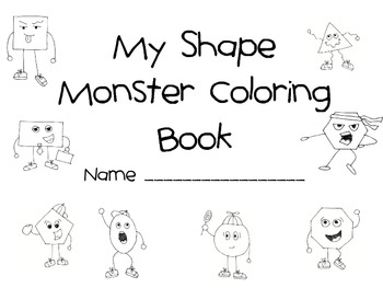 Shape Monsters Coloring Pages and Activities