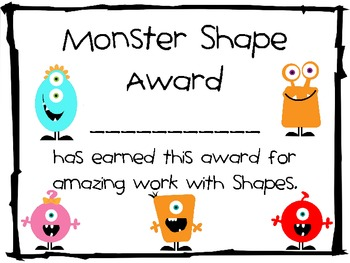 Shape Monsters Coloring Pages and