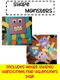 Shape Monsters- Valentine Shape Included!