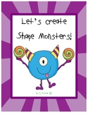 Shape Monsters!  {or Aliens!} First Grade Geometry Fun!