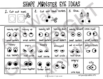 Shape Monsters with Facial Expressions