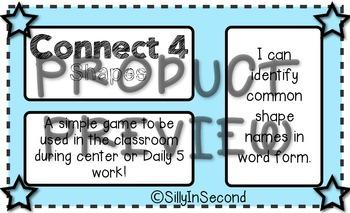 Shape Names - Connect 4
