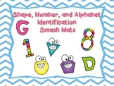 Shape, Number, and Alphabet Identification Smash Mats