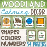 Woodland Animals Classroom Decor Shape, Number, and Color Posters