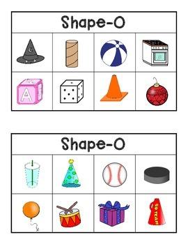 Shape-O!  (A 3D Shape Bingo Game)