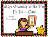 Shape Ornaments on the Tree File Folder Game-Sort by 2D shape