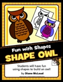 Owl Shapes Art—Quick Art Activity to Explore Shapes