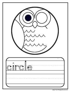 Shape Owls - Shape Discrimination, Visual Closure and Handwriting Practice