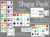 Shape Pack: 26 2D Shapes {A Hughes Design}