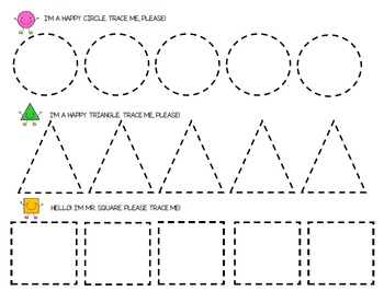 Shapes Pack (Tracing Worksheets, Colouring Pages, Board Games, Rhyme)