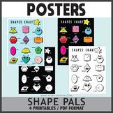 FREEBIE! Shape Pals Posters