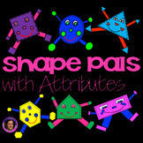 Shape Pals with Attributes Interactive Notebook & Project Sized