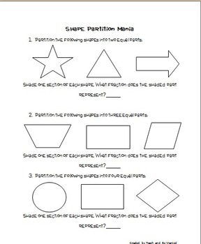 Shape Partition Mania