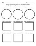 Shape Partitioning: Halves, Thirds & Fourths