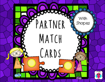 Shape Partner Match Cards
