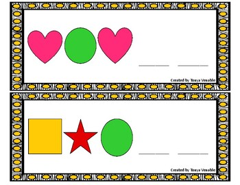 Shape Pattern Cards