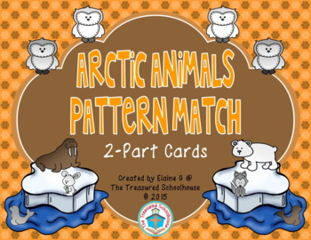Shape Pattern Match Cards - Arctic Animals