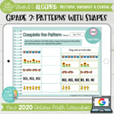 Shape Patterns Grade 3 2020 Ontario Math DIGITAL Strand C Algebra