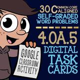 Shape Patterns & Number Patterns Task Cards (Digital) ★ Google Classroom 4.OA.5