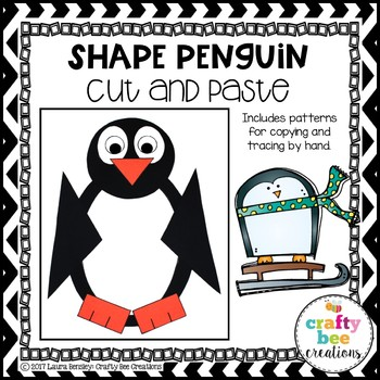 Shape Penguin Cut and Paste