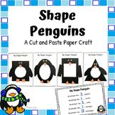 Shape Penguin Winter Craft, Paper Craft