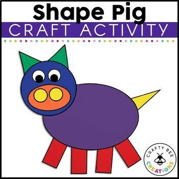 Shape Pig Cut and Paste