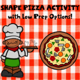 Shape Pizza Craft and Activity w\ Low  Prep Options!