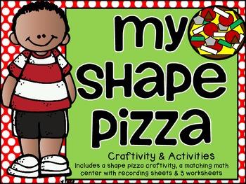 Shape Pizza Craftivity & Practice Pack