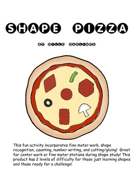 Shape Pizza: Fine Motor, Shape, and Counting
