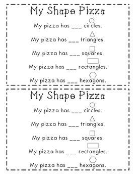 Shape Pizza Recording Sheet