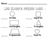 Shape Pizza Worksheet