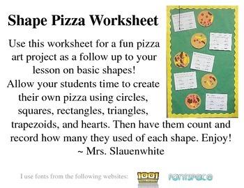 Shape Pizza Worksheet