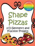 Shape Pizzas - Fraction Project