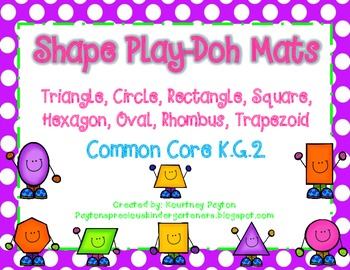 Shape Play-Doh Mats - (8 Shapes) K.G.2, K.G.5