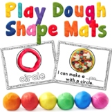 Shape Play Dough Mats Center Activity -OR- Shape Coloring Pages